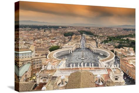 Dolce Vita Rome Collection - The Vatican City at Sunset-Philippe Hugonnard-Stretched Canvas Print