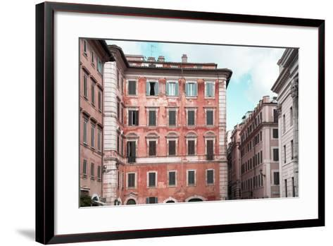 Dolce Vita Rome Collection - Coral Buildings Facade-Philippe Hugonnard-Framed Art Print