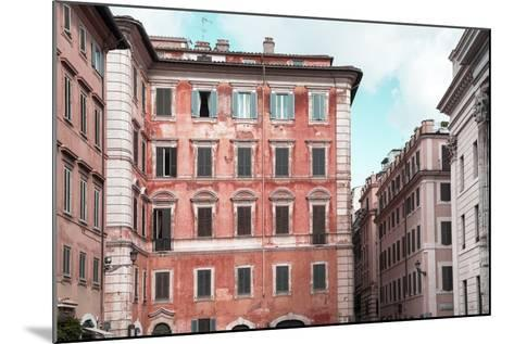 Dolce Vita Rome Collection - Coral Buildings Facade-Philippe Hugonnard-Mounted Photographic Print