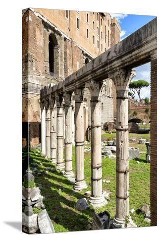 Dolce Vita Rome Collection - Architecture Columns-Philippe Hugonnard-Stretched Canvas Print