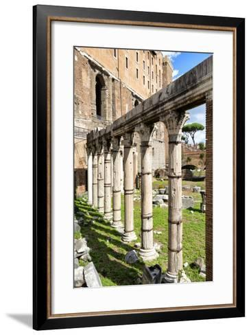 Dolce Vita Rome Collection - Architecture Columns-Philippe Hugonnard-Framed Art Print