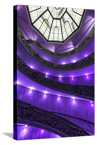 Dolce Vita Rome Collection - Purple Vatican Staircase-Philippe Hugonnard-Stretched Canvas Print