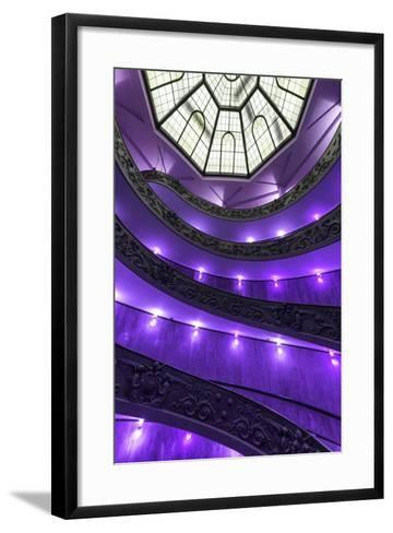 Dolce Vita Rome Collection - Purple Vatican Staircase-Philippe Hugonnard-Framed Art Print