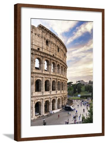 Dolce Vita Rome Collection - Colosseum at Sunset IV-Philippe Hugonnard-Framed Art Print