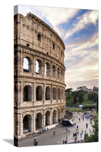 Dolce Vita Rome Collection - Colosseum at Sunset IV-Philippe Hugonnard-Stretched Canvas Print