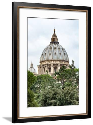 Dolce Vita Rome Collection - St Pierre de Rome Basilica-Philippe Hugonnard-Framed Art Print