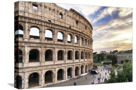 Dolce Vita Rome Collection - Colosseum at Sunset III-Philippe Hugonnard-Stretched Canvas Print