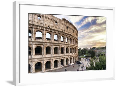 Dolce Vita Rome Collection - Colosseum at Sunset III-Philippe Hugonnard-Framed Art Print