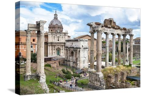 Dolce Vita Rome Collection - Roman Columns Rome II-Philippe Hugonnard-Stretched Canvas Print