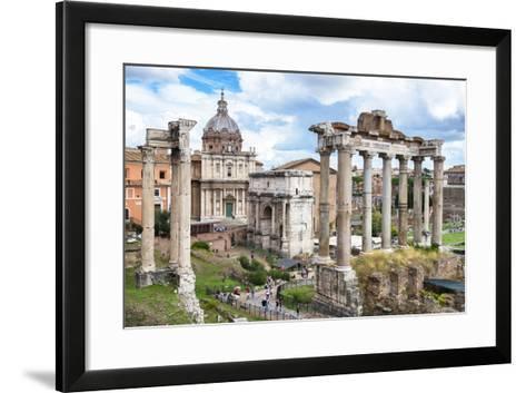 Dolce Vita Rome Collection - Roman Columns Rome II-Philippe Hugonnard-Framed Art Print