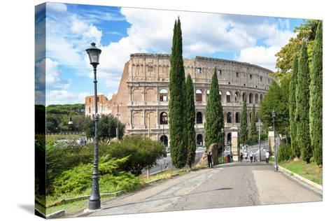 Dolce Vita Rome Collection - The Colosseum Rome-Philippe Hugonnard-Stretched Canvas Print