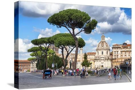 Dolce Vita Rome Collection - Sunday in Rome-Philippe Hugonnard-Stretched Canvas Print