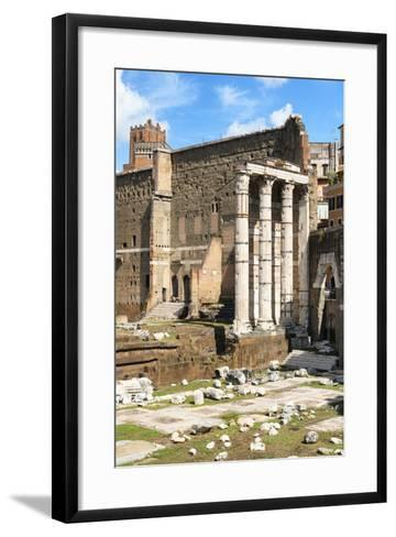 Dolce Vita Rome Collection - Antique Ruins Rome IV-Philippe Hugonnard-Framed Art Print