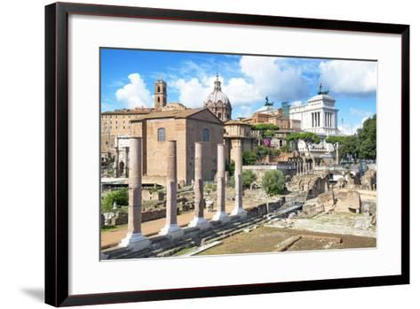 Dolce Vita Rome Collection - Antique Ruins Rome III-Philippe Hugonnard-Framed Art Print