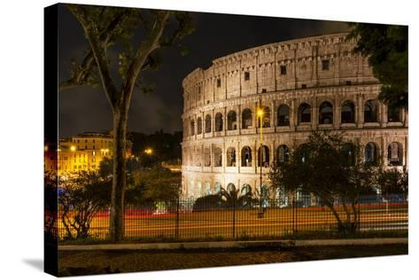 Dolce Vita Rome Collection - The Colosseum Orange Night-Philippe Hugonnard-Stretched Canvas Print