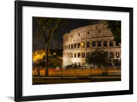Dolce Vita Rome Collection - The Colosseum Orange Night-Philippe Hugonnard-Framed Art Print