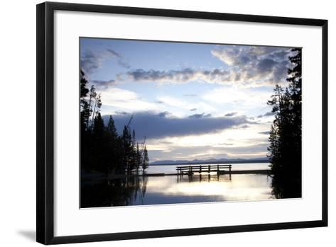 Yellowstone Lake In Yellowstone National Park, WY-Justin Bailie-Framed Art Print