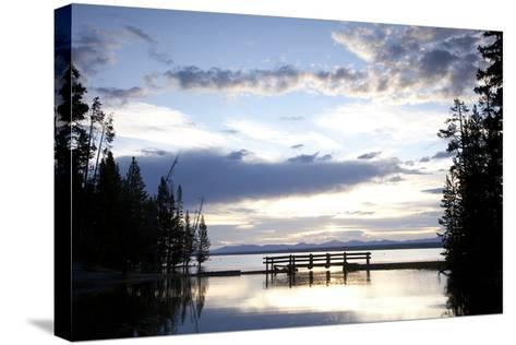 Yellowstone Lake In Yellowstone National Park, WY-Justin Bailie-Stretched Canvas Print