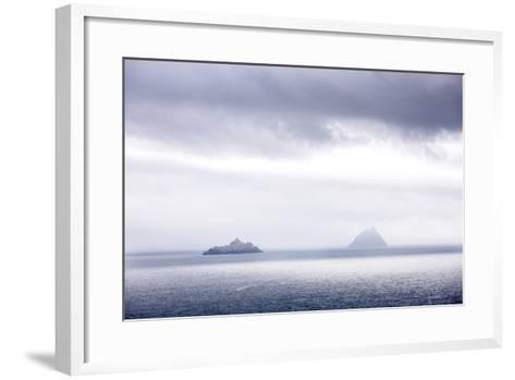 Bray Head, Bray, Kerry, Ireland: The Skellig Islands In Some Interesting Light-Axel Brunst-Framed Art Print