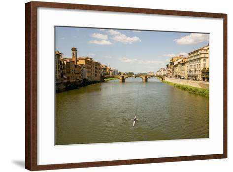 Florence, Italy: View From Ponte Vecchio-Ian Shive-Framed Art Print