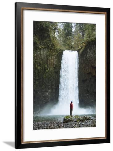 Hiking At Abiqua Falls. Willamette Valley, Oregon-Justin Bailie-Framed Art Print