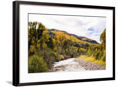 Dolores River, Colorado, USA: The River With Prime Fall Colors-Axel Brunst-Framed Art Print