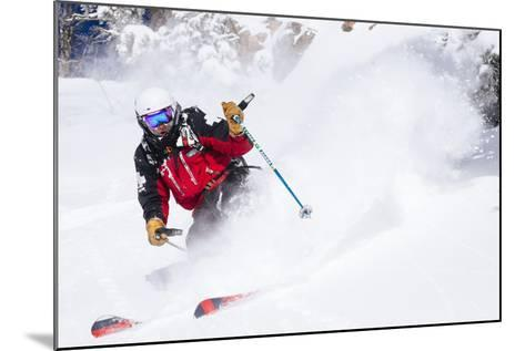 Skiing In-Bounds Powder And Terrain At Jackson Hole Mountain Resort-Jay Goodrich-Mounted Photographic Print
