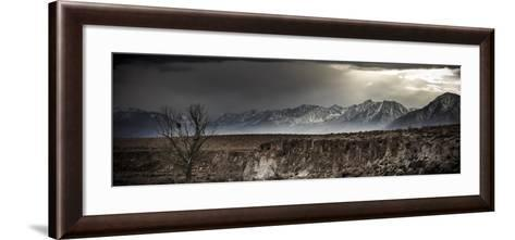 A Winter Storm Descends On The Owen Valley Near Bishop California-Jay Goodrich-Framed Art Print