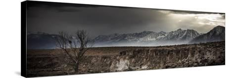 A Winter Storm Descends On The Owen Valley Near Bishop California-Jay Goodrich-Stretched Canvas Print