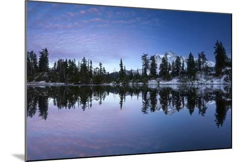 Mount Shuksan Is Reflected In A Lake In Late Autumn Near Mount Baker Ski Area-Jay Goodrich-Mounted Photographic Print