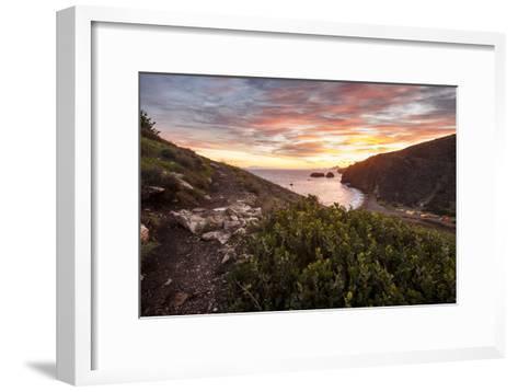 Santa Cruz, Channel Islands NP, CA, USA: View Along Coast And Over Scorpion Harbor During Sunrise-Axel Brunst-Framed Art Print