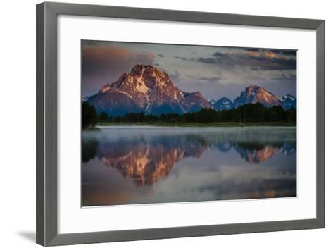 The Sun Rises Through The Clouds At Oxbow Bend In Grand Teton National Park, Wyoming-Jay Goodrich-Framed Art Print