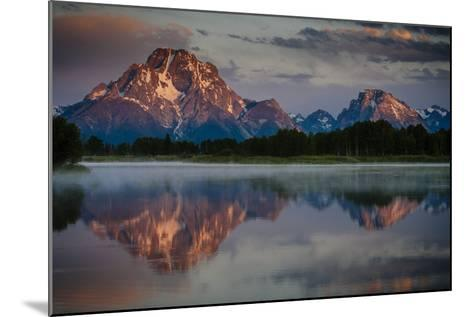 The Sun Rises Through The Clouds At Oxbow Bend In Grand Teton National Park, Wyoming-Jay Goodrich-Mounted Photographic Print