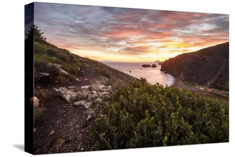 Santa Cruz, Channel Islands NP, CA, USA: View Along Coast And Over Scorpion Harbor During Sunrise-Axel Brunst-Stretched Canvas Print