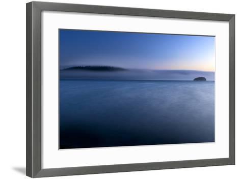 The Fog Rolls Back Into Martha's Beach At Sunset In Washington-Jay Goodrich-Framed Art Print