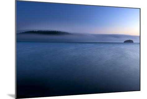 The Fog Rolls Back Into Martha's Beach At Sunset In Washington-Jay Goodrich-Mounted Photographic Print