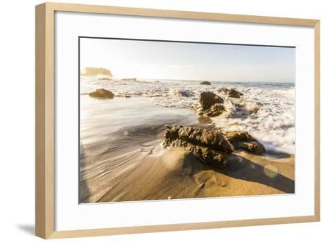 Malibu, California, USA: Famous El Matador Beach In Summer In The Early Morning-Axel Brunst-Framed Art Print