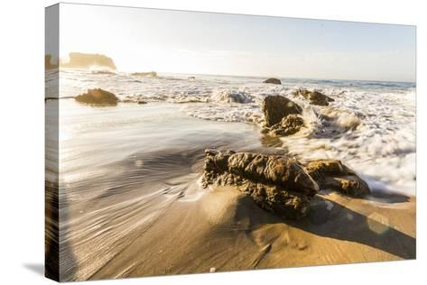 Malibu, California, USA: Famous El Matador Beach In Summer In The Early Morning-Axel Brunst-Stretched Canvas Print