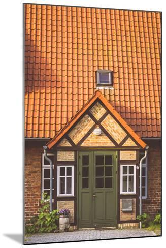 House Entrance Into Some Classic Northern German Brick Houses In Rerik, Germany-Axel Brunst-Mounted Photographic Print