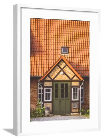 House Entrance Into Some Classic Northern German Brick Houses In Rerik, Germany-Axel Brunst-Framed Art Print