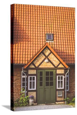 House Entrance Into Some Classic Northern German Brick Houses In Rerik, Germany-Axel Brunst-Stretched Canvas Print