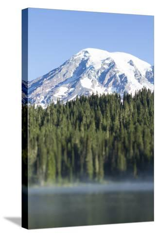 Reflection Lake. Mt. Rainier National Park, WA-Justin Bailie-Stretched Canvas Print