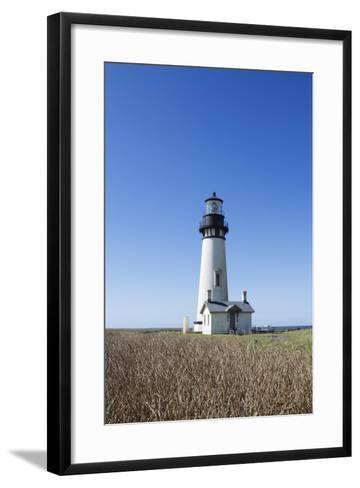 Yaquina Head Lighthouse, Oregon Coast-Justin Bailie-Framed Art Print