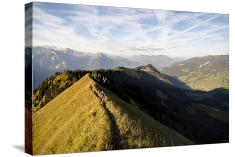 Hardergrat (Ridge) Hike Above Lake Brienz, Switzerland-Axel Brunst-Stretched Canvas Print
