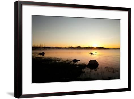 Kayaking Jackson Lake In Grand Teton National Park, WY-Justin Bailie-Framed Art Print