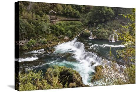 ?trba?ki Buk, Una NP. ?trba?ki Buk Waterfalls Una River, Borders Bosnia, Herzegovina & Croatia-Karine Aigner-Stretched Canvas Print