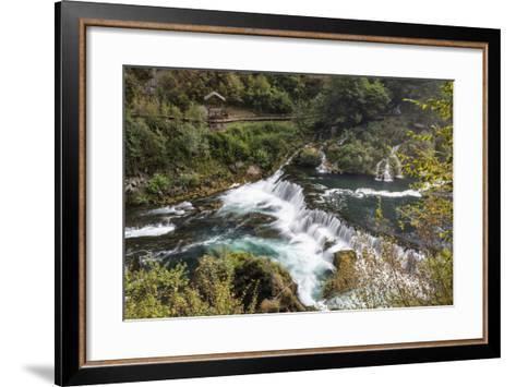 ?trba?ki Buk, Una NP. ?trba?ki Buk Waterfalls Una River, Borders Bosnia, Herzegovina & Croatia-Karine Aigner-Framed Art Print