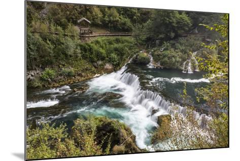 ?trba?ki Buk, Una NP. ?trba?ki Buk Waterfalls Una River, Borders Bosnia, Herzegovina & Croatia-Karine Aigner-Mounted Photographic Print