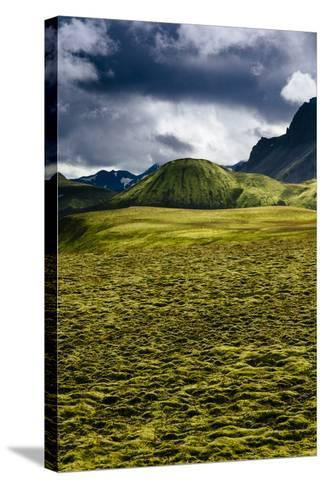 The Lower Lava Drainages In The Rhyolite Hills Of Landmannalaugar National Park In Iceland-Jay Goodrich-Stretched Canvas Print