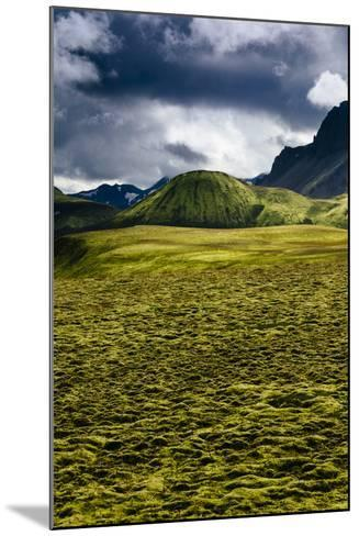The Lower Lava Drainages In The Rhyolite Hills Of Landmannalaugar National Park In Iceland-Jay Goodrich-Mounted Photographic Print